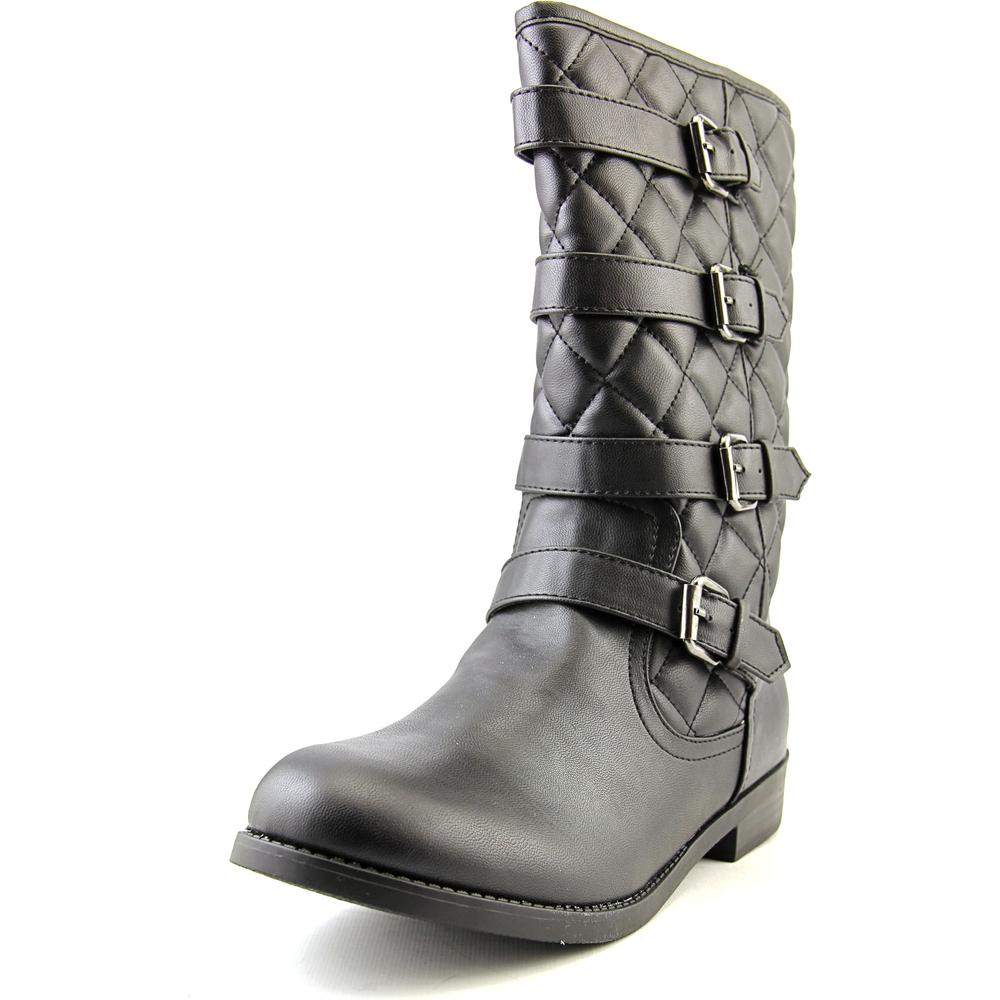 Wild Pair Preston   Round Toe Synthetic  Mid Calf Boot