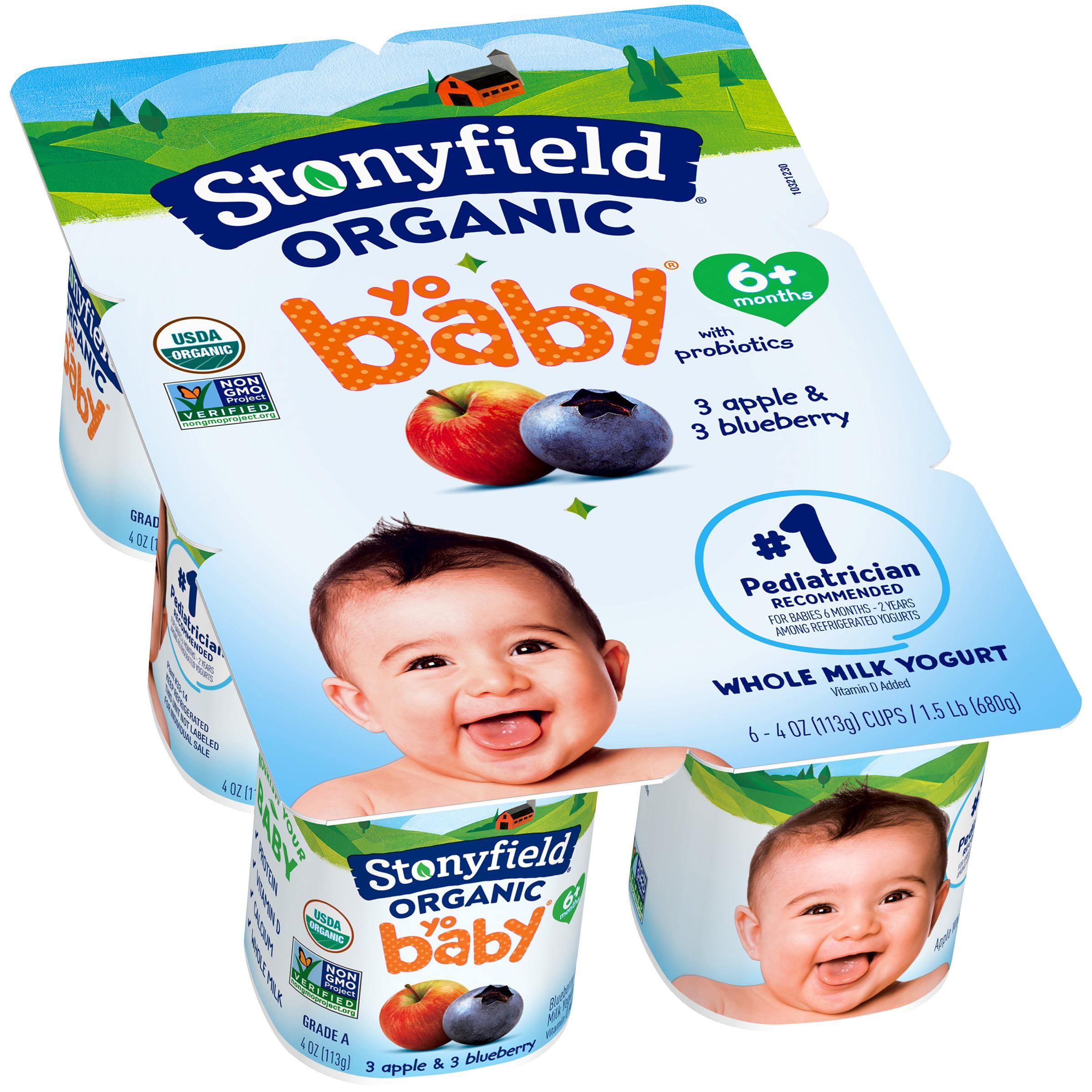 Stonyfield® Organic Yobaby® Whole Milk Yogurt 6-4 oz. Cups