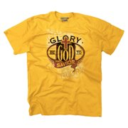 Christian T Shirt Glory Be To God Savior Jesus Christ Faith Religious Tee by Christian Strong