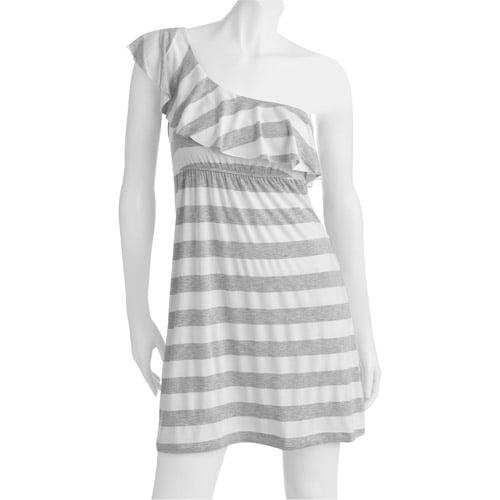 Juniors One Shoulder Ruffle Knit Dress