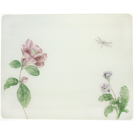 Corelle Camellia 15 X 12 inch Counter Saver Tempered Glass Cutting Board, 91512CAMH Tempered Glass Prep Board