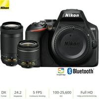 Nikon D3500 24.2MP DSLR Camera w/ AF-P 18-55mm VR Lens & 70-300mm Dual Zoom Lens (1588B)  (Renewed)