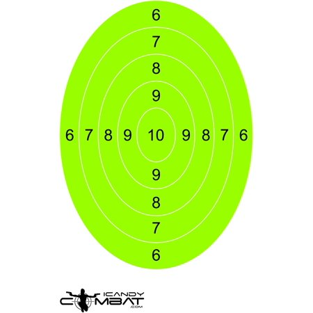 Practice Lime Green Oval Shooting Targets High Visibility Target for Firearm