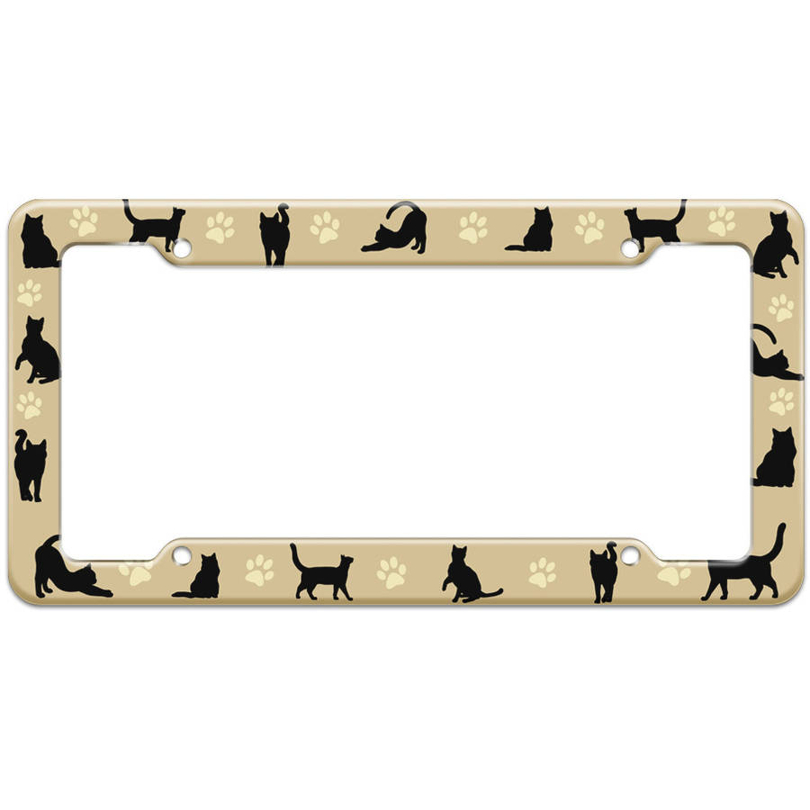 SAVE A LIFE ADOPT A PET WITH DOG Metal Auto License Plate Frame Car Tag Holder