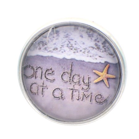 Snap Button Jewelry (18mm Snap Charm Button Interchangeable Jewelry One day at a)