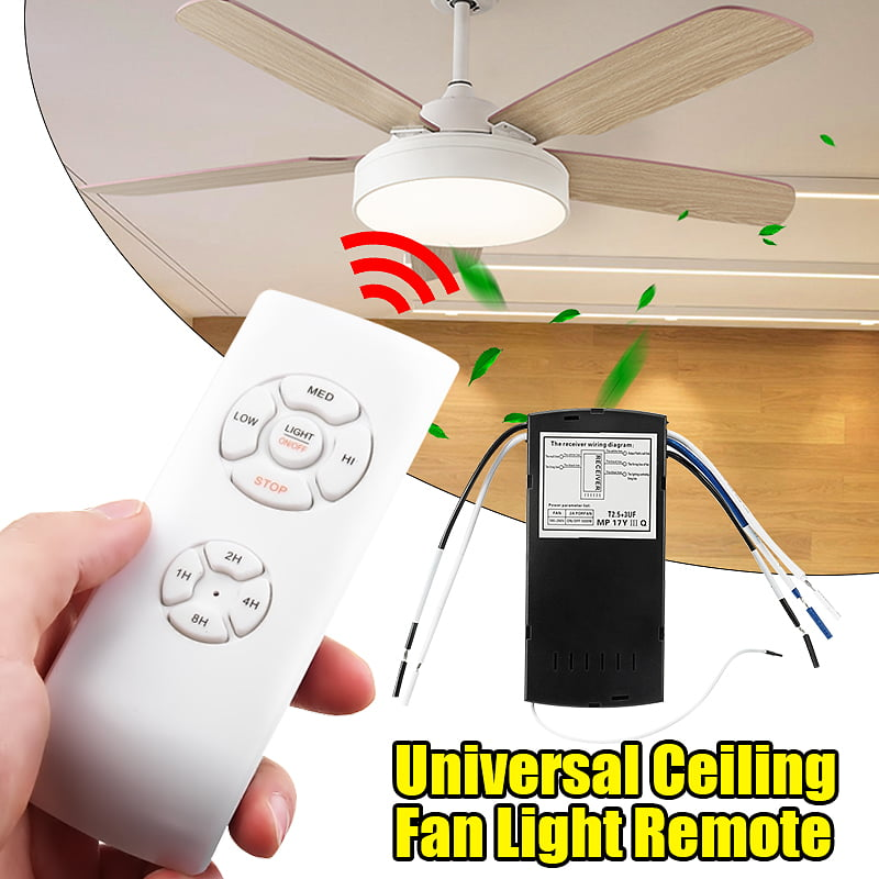 Ceiling Fan Remote Control Kit Small Size Universal Ceiling Fans Light Remote Speed Light Timing 3 In 1 Wireless Control For Harbor Breeze Hunter Hampton Bay Lichler Ceiling Fans Remote