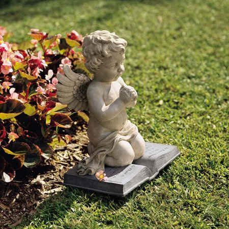 Baby Angel Praying Cherub Christian Garden Sculpture Statue Figurine [Kitchen] ()