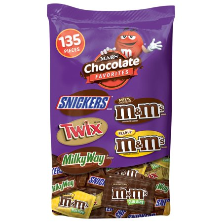 Mars Chocolate, Halloween Candy, Variety Mix, 135 Ct - Halloween Chocolate Brownies