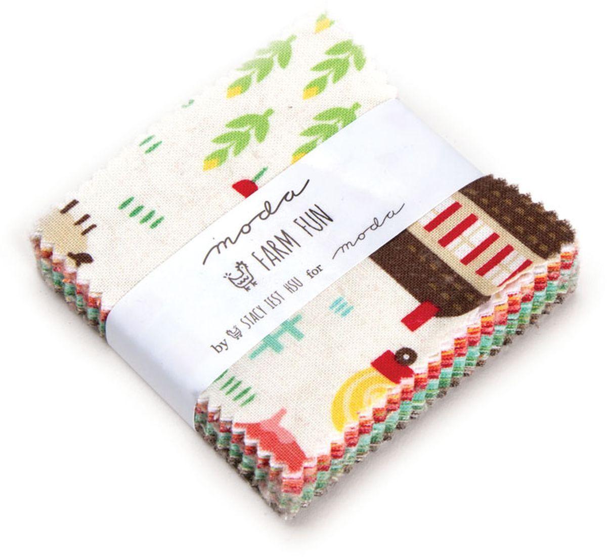 "Farm FunModaMini Charm Pack By Stacy Iset Hsu; 42 - 2.5"" Precut Fabric Quilt Squares"