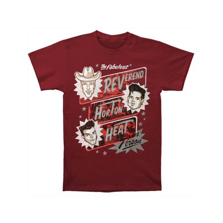Reverend Horton Heat Men's  Poster T-shirt Maroon (Reverend Horton Heat T Shirt)