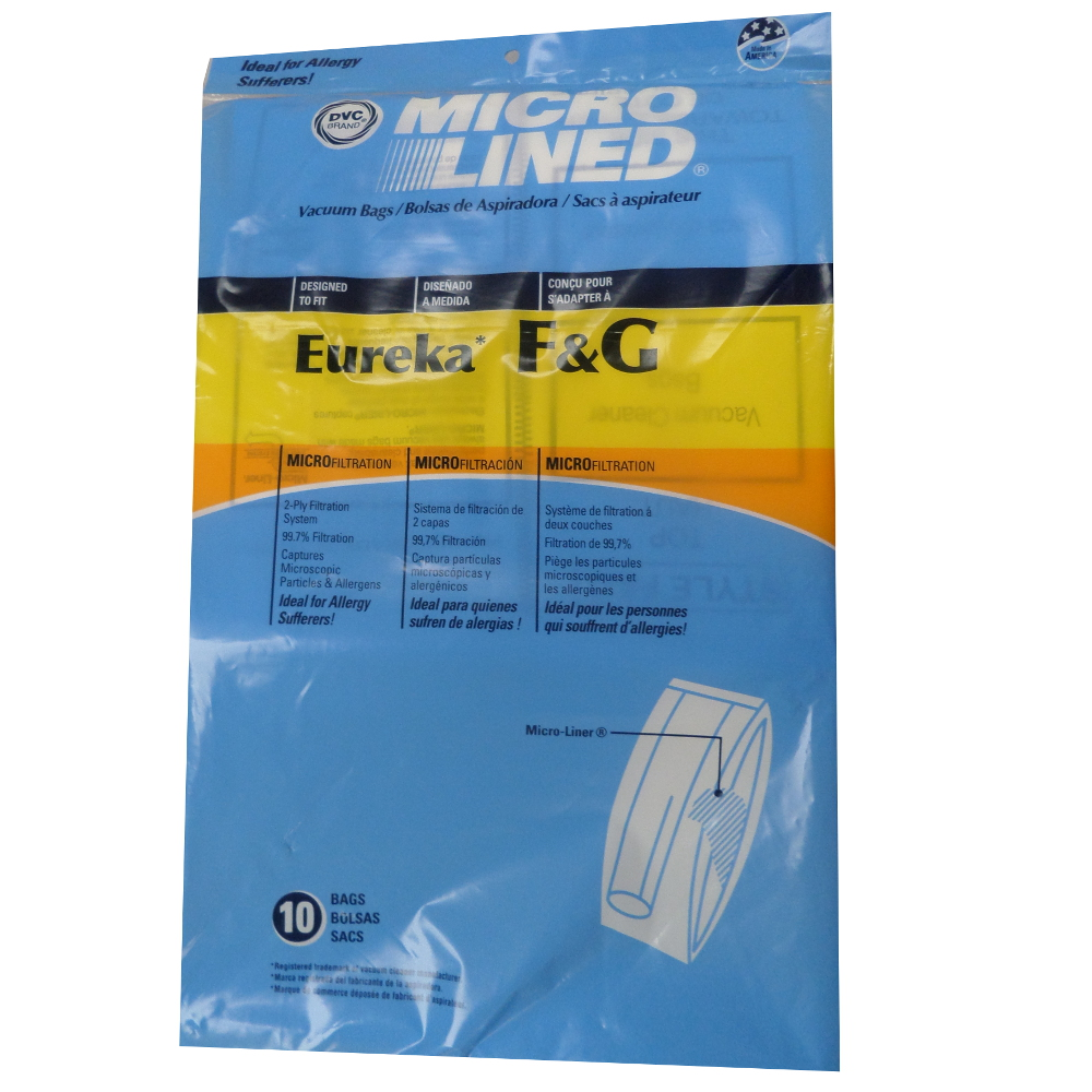 Eureka Sanitaire Style F /& G Vacuum Bags Type Micro Lined Allergen Filtration