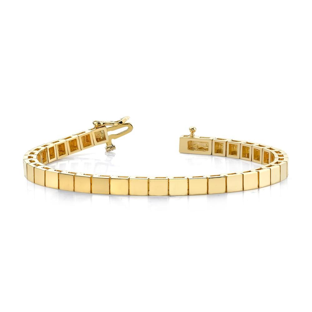 14k Yellow Gold Polished Box Catch Closure Add-a-Diamond Tennis Bracelet