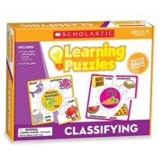 Scholastic Puzzle - Skill Learning: Letter Matching, Picture Matching, Vocabulary, Classifying - 10 Pieces