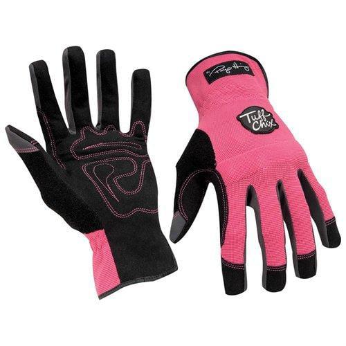 Ironclad TCX24L Tuff Chix Women's Gloves, Pink/black, Large