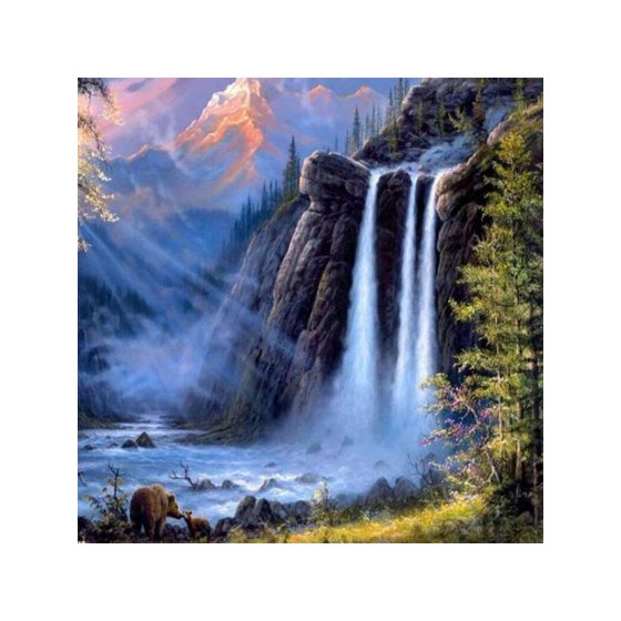Vicooda Oil Painting Diy Natural Landscape Canvas Painting By Numbers Face Painting Kits For Adults And Kids Beginners With Brush Acrylic Pigment Wall