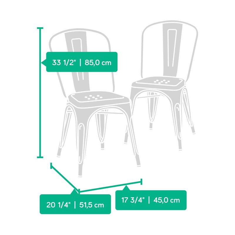 Sauder New Grange Cafe Chair in Matte Green (Set of 2) - image 7 de 8