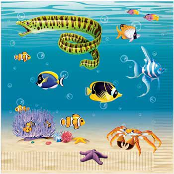 Ocean Party Napkins (16-pack) - Party Supplies