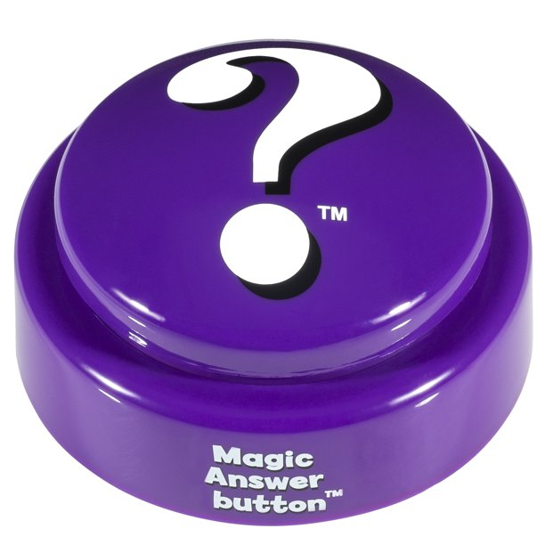 Magic Answer button - Fortune Telling Novelty Toy Fun! The Answers You Seek When The Button Speaks