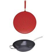 Starfrit Light Cast Iron Fry Pan with Splatter Cover Cookware Set