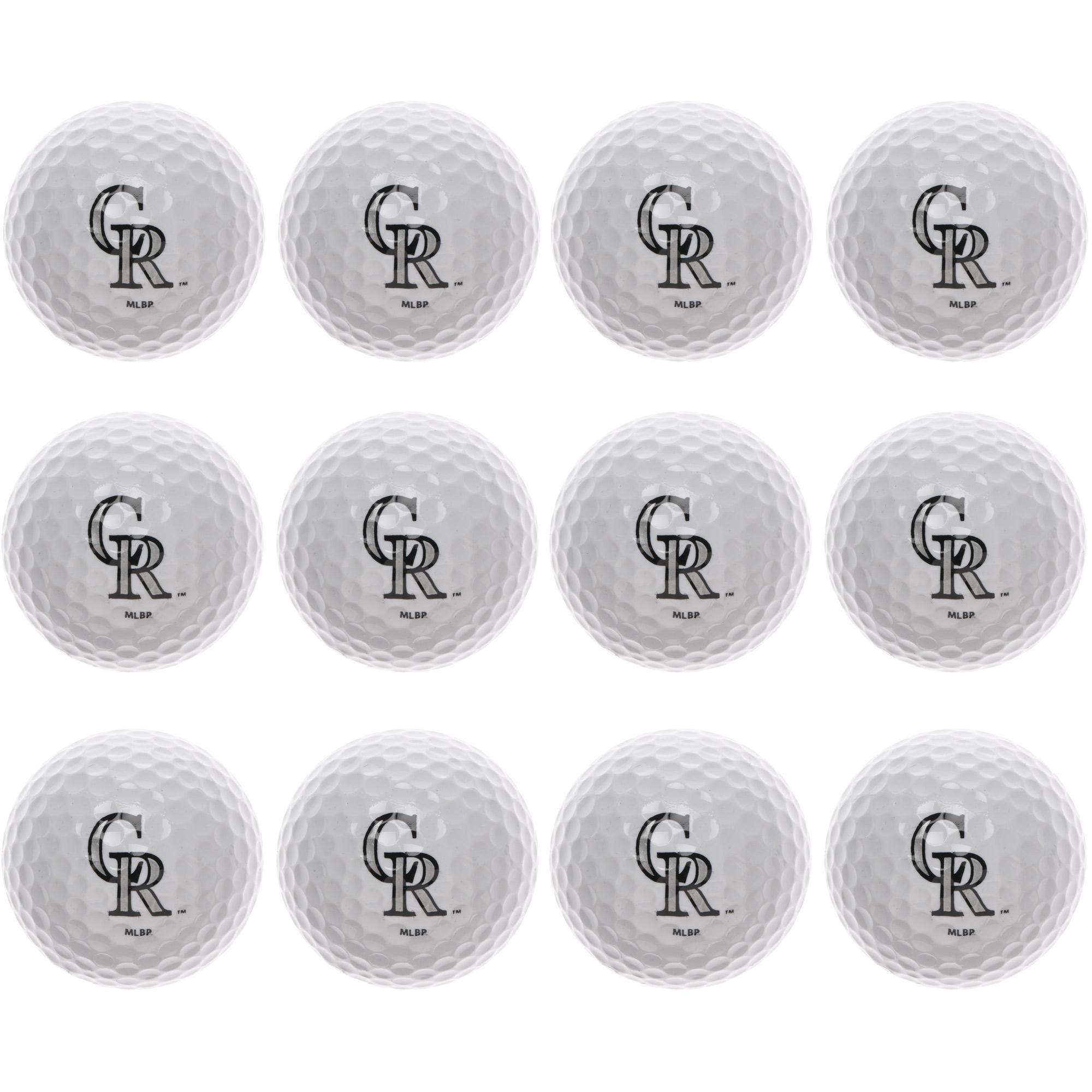 Colorado Rockies MLB Golf Balls 12 Pack by Team Golf - No Size