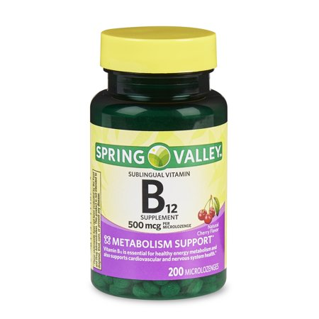 (2 Pack) Spring Valley Vitamin B12 Microlozenges, 500 mcg, 200 (Stores In The Valley Plaza)