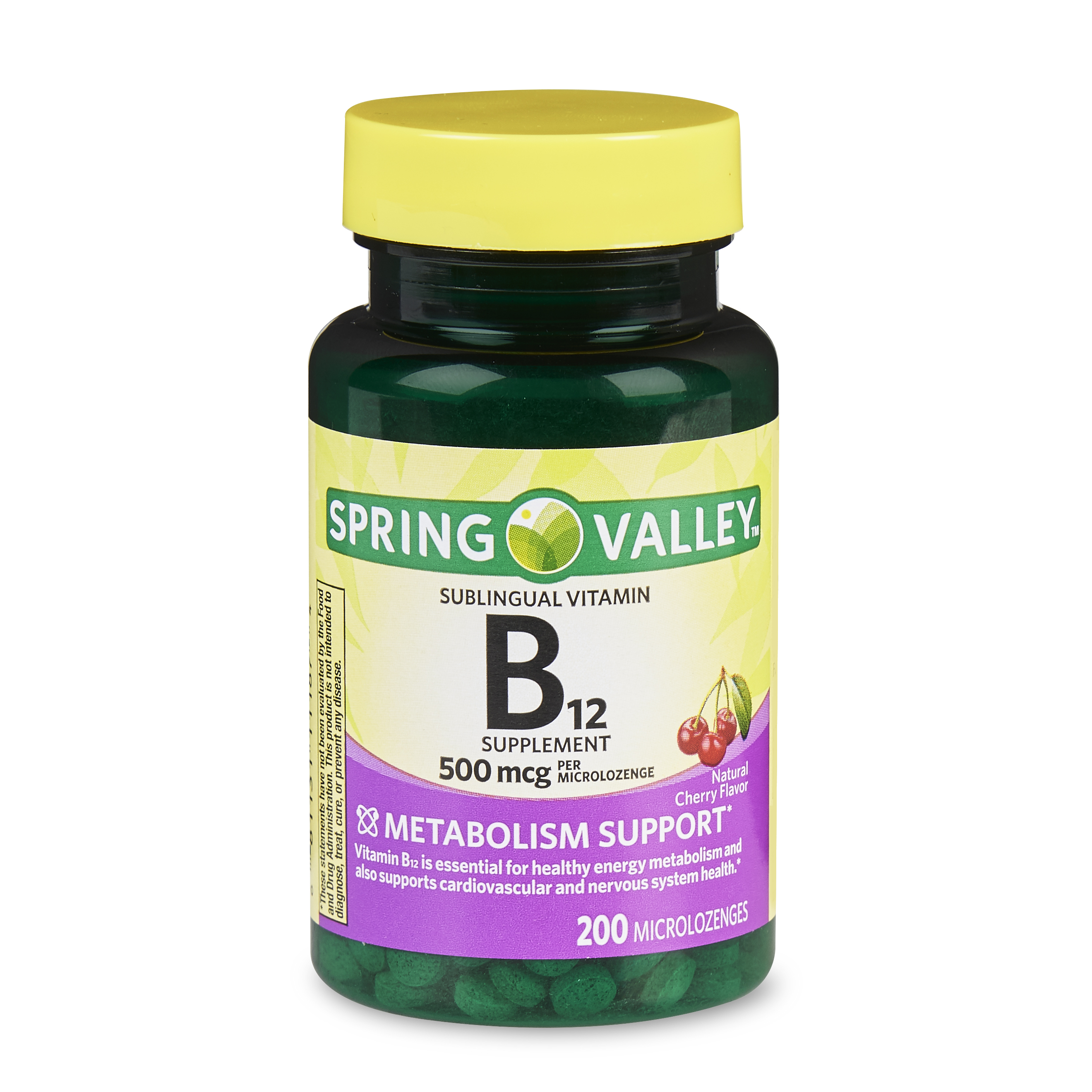(2 Pack) Spring Valley Vitamin B12 Microlozenges, 500 mcg, 200 Ct