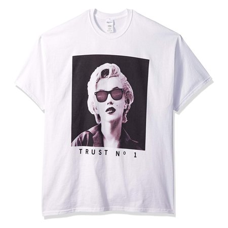 Marilyn Monroe Men's Trust No 1 Classic Crew neck White T-Shirt - Zombie Marilyn Monroe Costume