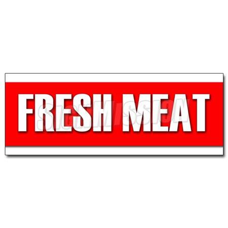 """24"""" FRESH MEAT DECAL sticker butcher steak beef chicken pork ground ..."""