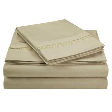 Luxor Treasures-Executive 3000 MF3000KGSH 2LSG Executive 3000 Series King Sheet Set, 2 Line Embroidery - Sage - image 1 de 1