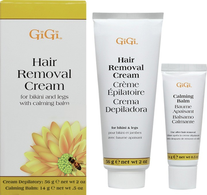 Gigi Hair Removal Cream for Bikini with Calming Balm