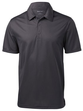 Sport-Tek Men's Textured 3-Button Placket Polo Shirt