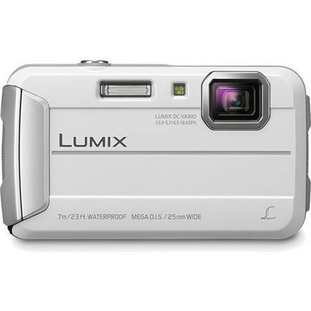 Panasonic Lumix DMC-TS25 Digital Camera (White) (Open Box)