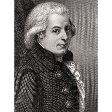 Wolfgang Amadeus Mozart 1756-1791 Austrian Composer And Musician 19Th Century Engraving After Painting By Johann Heinrich Wilhelm Canvas Art - Ken Welsh  Design Pics (24 x 32)