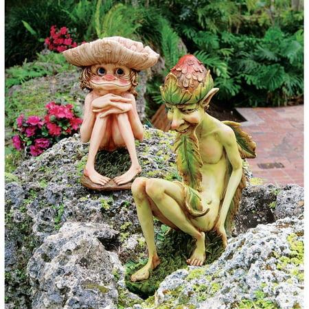 Svenska and Theodor, the Garden Trolls Sculptures