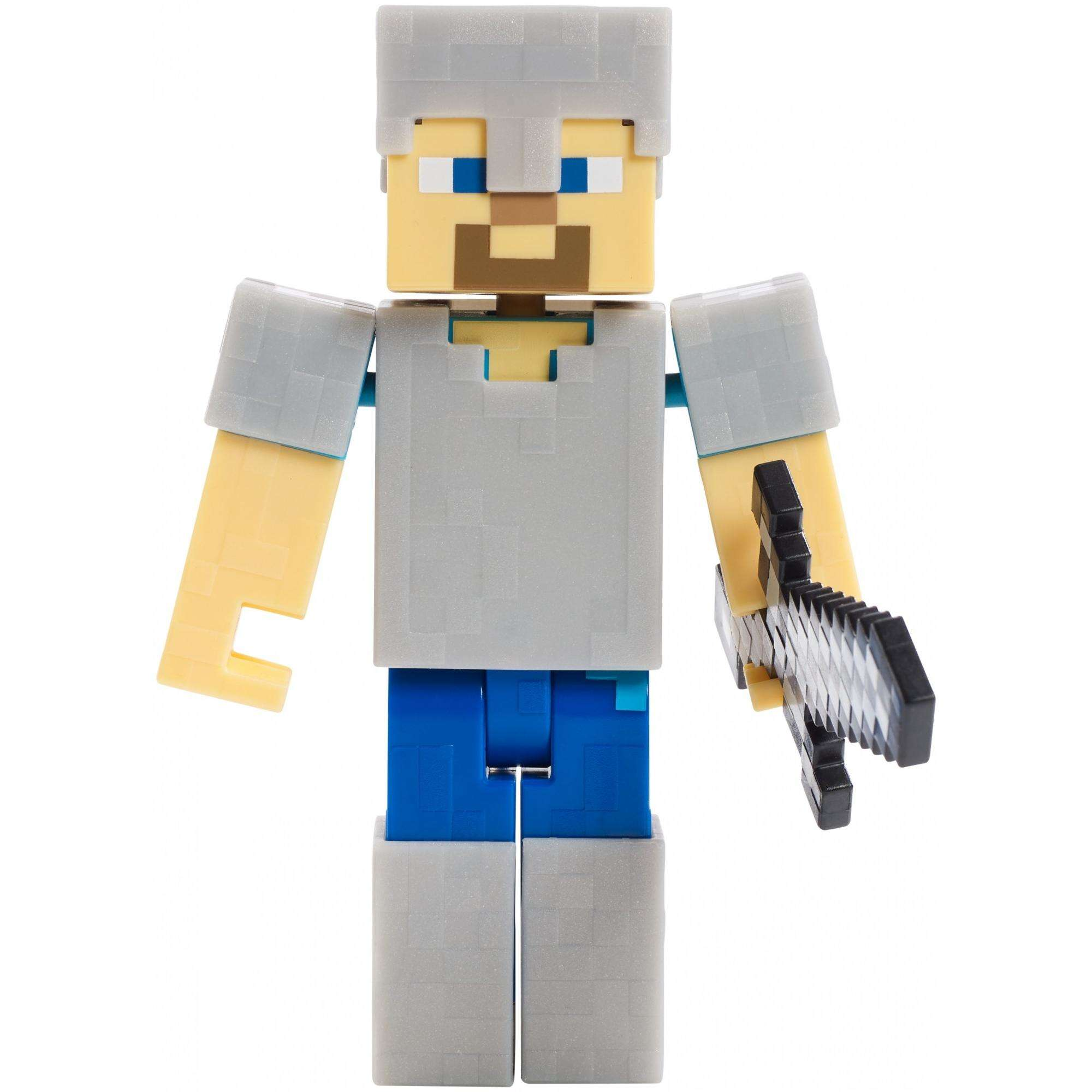 Minecraft Survival Mode Steve with Iron Armor Figure by Mattel