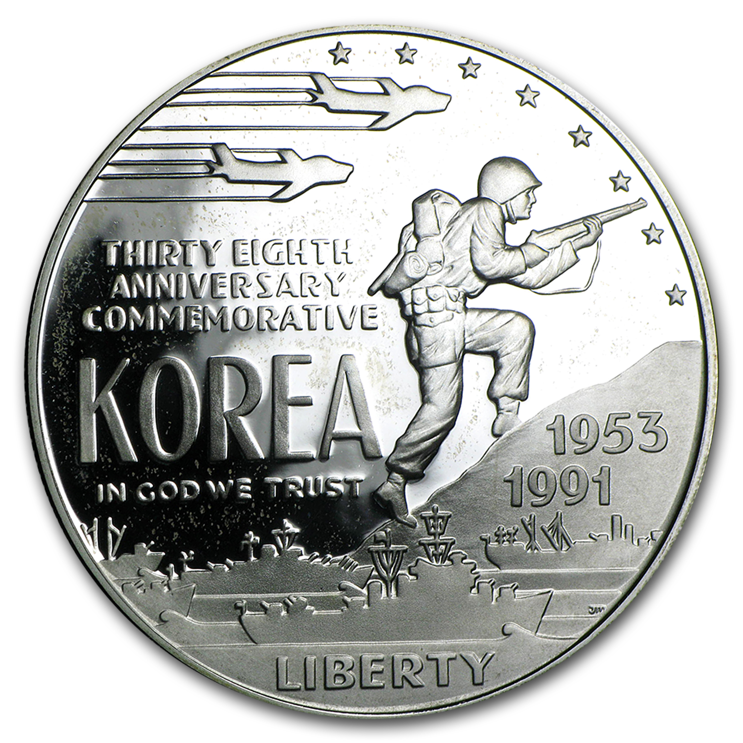 1991-P Korean War $1 Silver Commem Proof (Capsule Only)