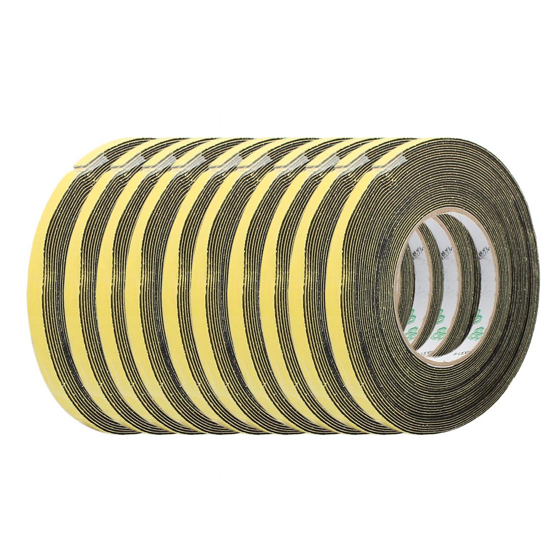 10Pcs 10mm Width 1mm Thickness Single Side Sponge Foam Tape Black 10M Length - image 4 of 4