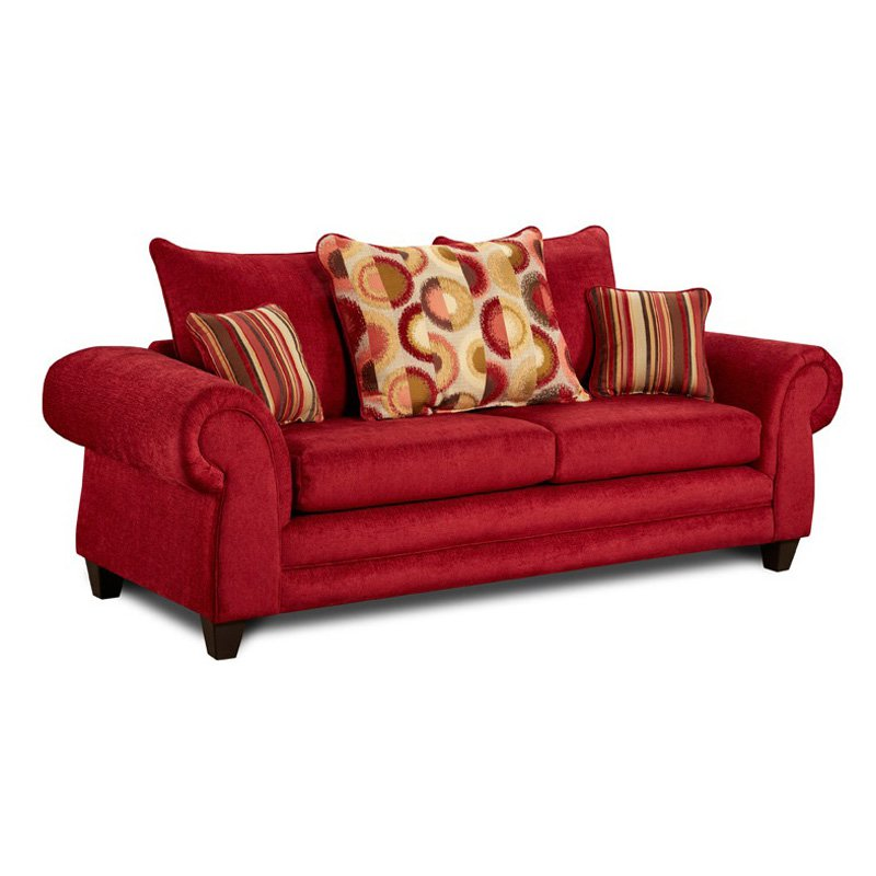Chelsea Home Carlen Sofa with Accent Pillows
