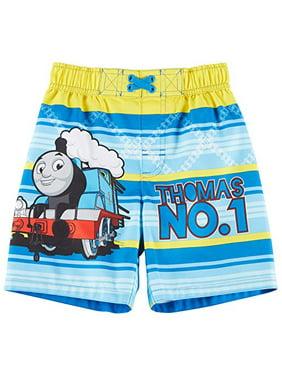 Thomas The Train Toddler Boys No. 1 Swim Trunks 2T Blue/Yellow