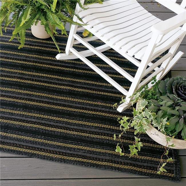 Homespice Decor 310729 27 x 45 in. Bristol Avenue Ultra Durable Rectangular Braided Rug - Black Mustard, Multicolor - image 1 de 1