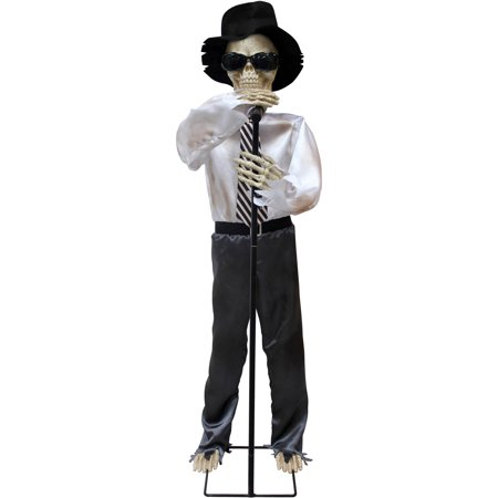 singing and dancing animated skeleton halloween decoration - Animated Halloween Decorations