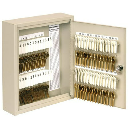 - Buddy Products Key Cabinet, 60 Hooks, Steel, 3 x 12 x 10 Inches, Putty (0160-6)