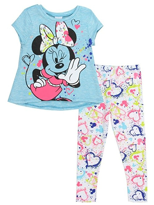 Minnie Mouse Wink Hello Girls Toddlers Hi-Low Tunic & Legging Set (12M) W45