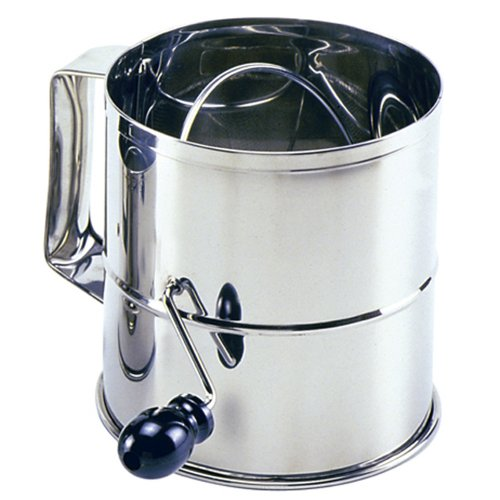 Norpro Polished 8-Cup Stainless Steel Hand Crank Sifter by Norpro