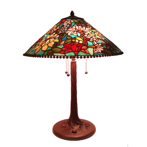 Fine Art Lighting Tiffany 26'' H Table Lamp with Cone Shade