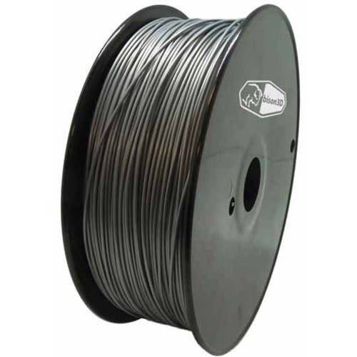 Universal Filament for 3D Printing, 1.75mm, 1kg/Roll, Silver (ABS)