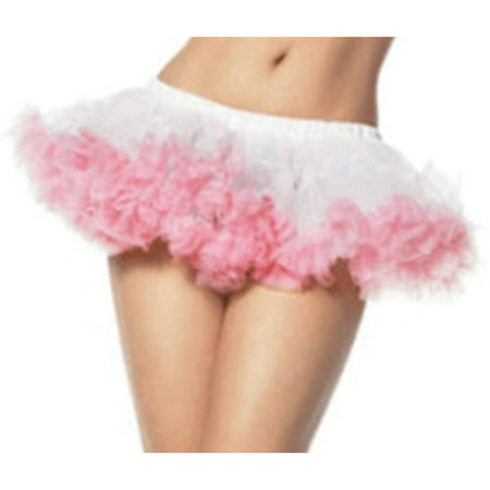 White Pink Mini Chiffon Petticoat Adult Halloween Accessory, 1 Size, Standard (6-12) - University Of Miami Halloween 2017