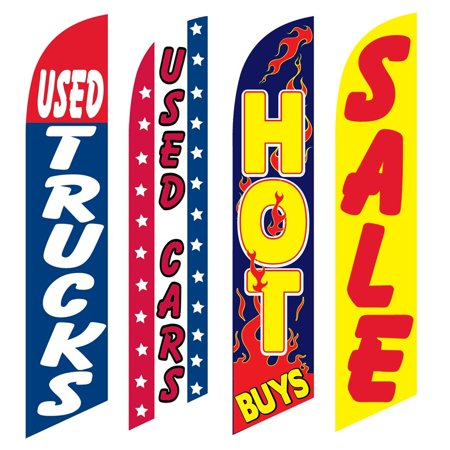 4 Advertising Swooper Flags Used Trucks Used Cars Hot Buys Sale