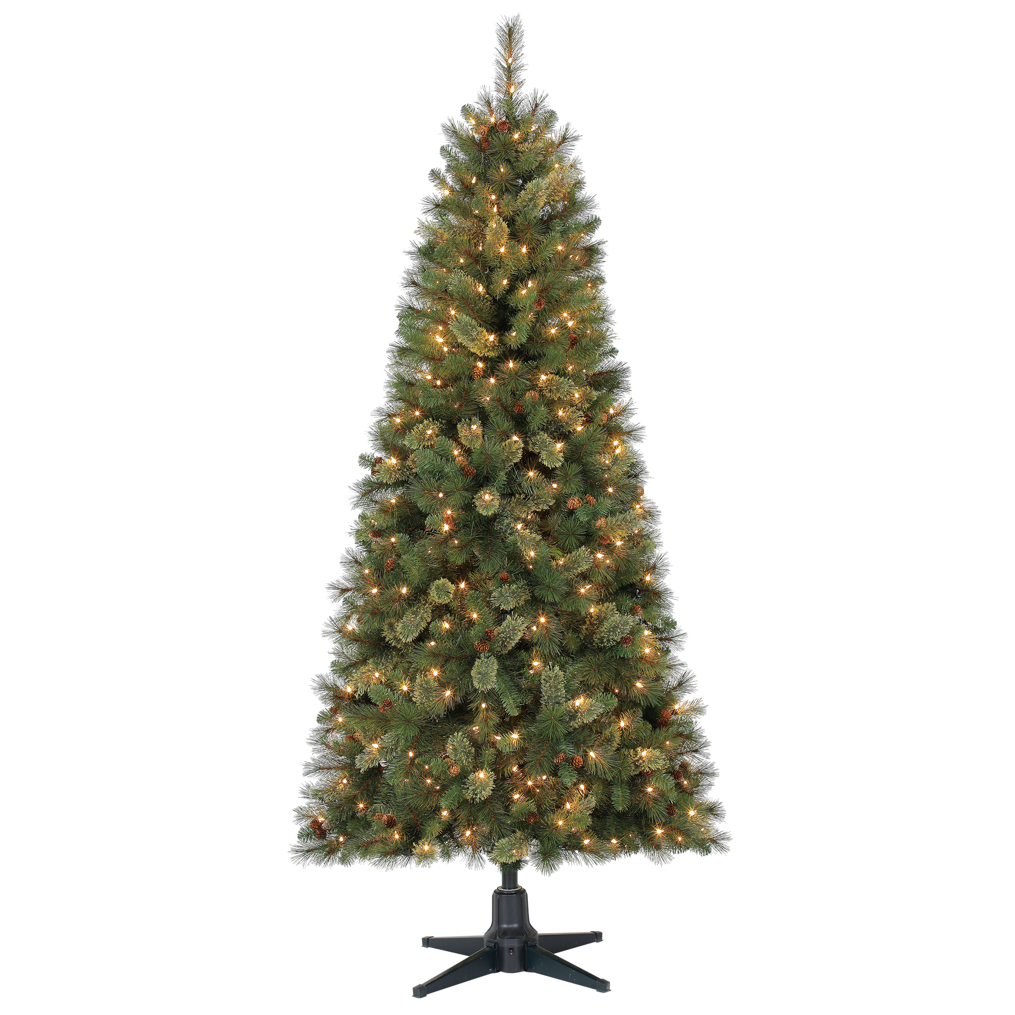 Holiday Time 7ft Pre-Lit Brookfield Fir Cashmere Quick Set Artificial Christmas Tree with 350 Clear Lights - Green