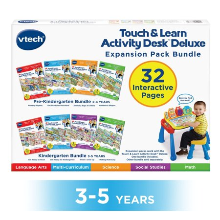 VTech Touch and Learn Activity Desk Deluxe 4-in-1 Preschool Bundle Expansion